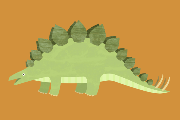 Happy Stegosaurus